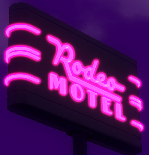 Rodeo Motel Sign